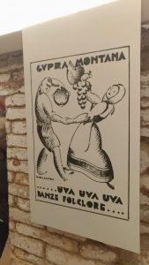 Vecchio manifesto della sagra dell'uva di Cupramontana