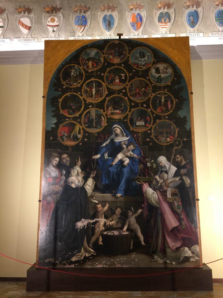 Madonna del Rosario di Lorenzo Lotto