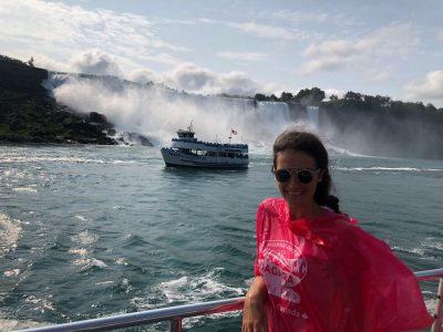 Sul battello delle cascate del Niagara