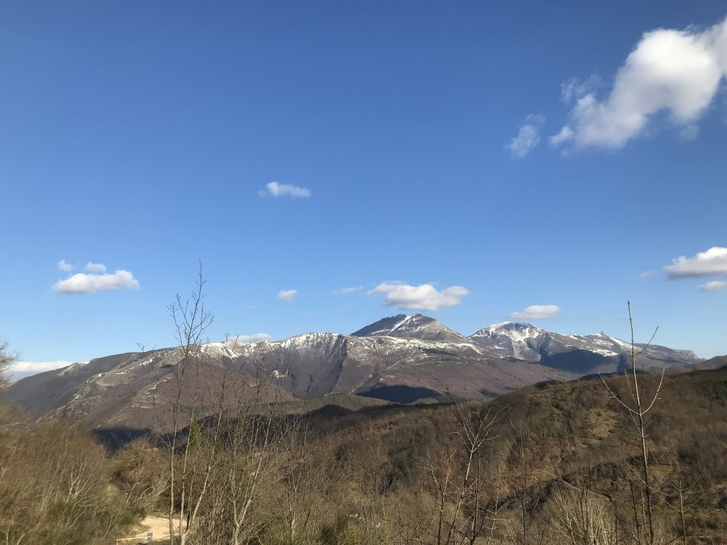 Panorama dal sentiero del Cerro