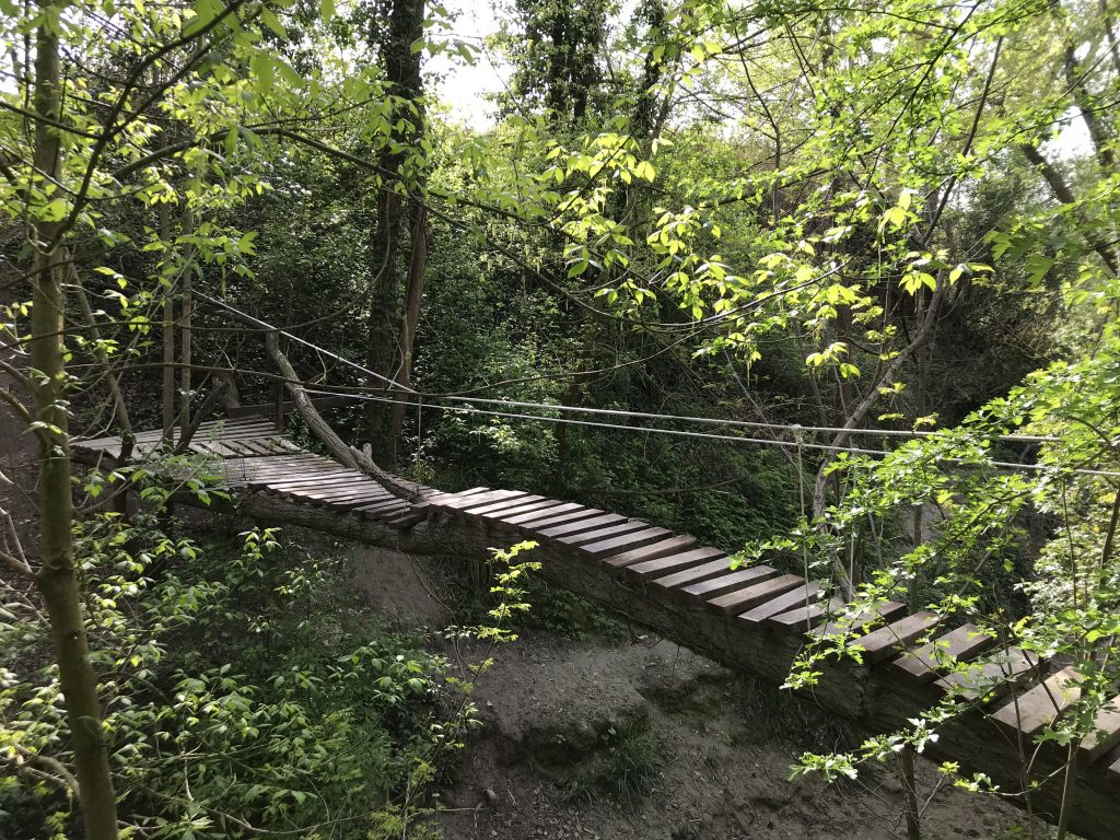 Ponte di legno sul Fiume Foglia