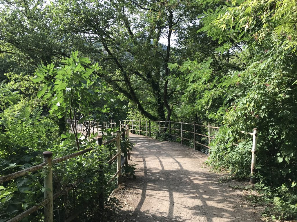 Ponte che porta alla cascata di Moraduccio
